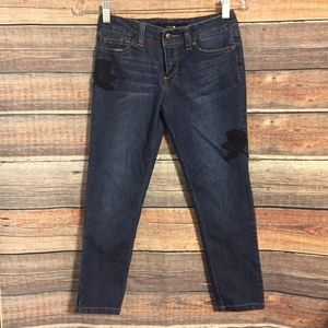 Joes jeans embroidered skinny ankle jeans